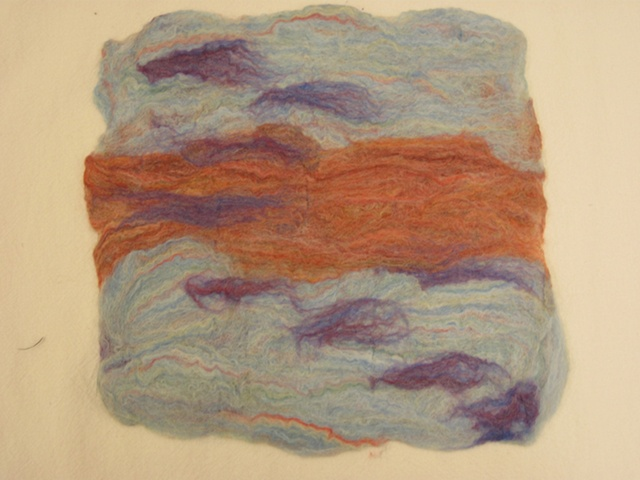 Hand-rolled Felt- made from wool roving