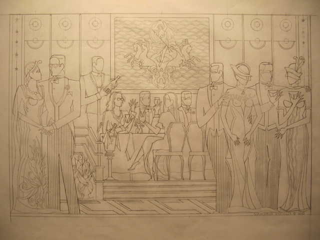 sketch for QE Painting