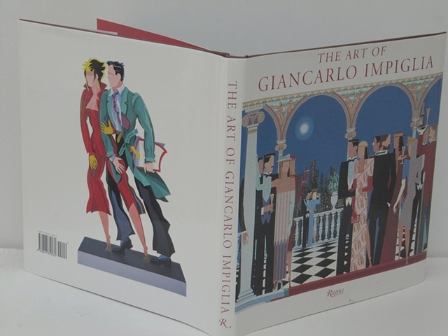 "Book Cover For ""The Art of Giancarlo Impiglia"" (side) © 1996"