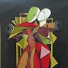 Hector and Andromache - Homage to De Chirico © 2000