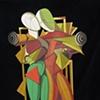 Hector & Andromache - Homage to De Chirico © 2000