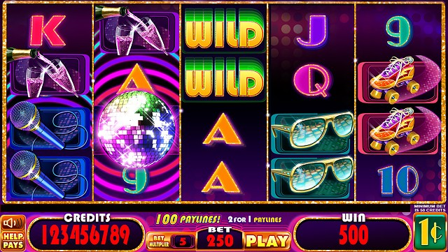 Disco Fever slot game Base screen