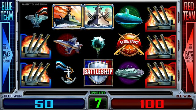 Battleship: Free Spins Screen