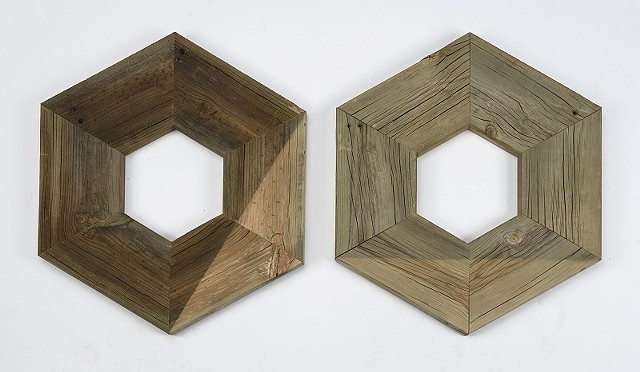 Green Hexagon (diptych)