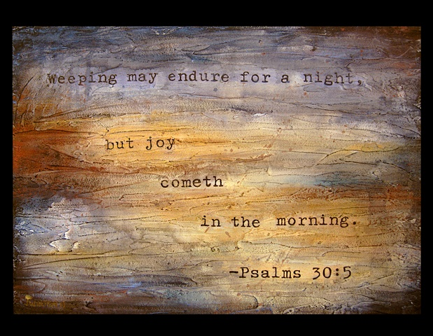 Psalms 30:5, painting