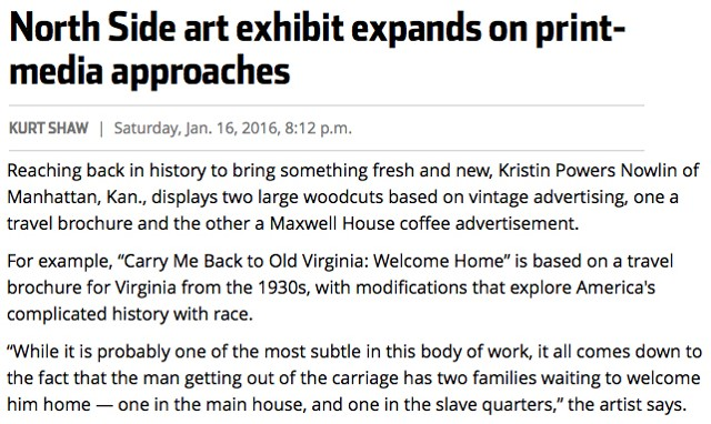 Pittsburgh Tribune-Review article about Printwork 2015