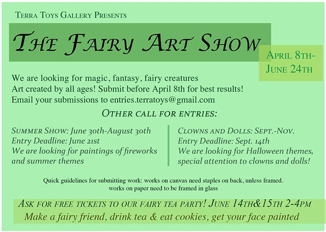 "Post Card Design 2/2 ""Fairy Show"""
