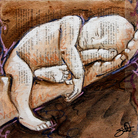 'little ones' - baby in hands