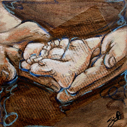 'little ones' - feet in Hands