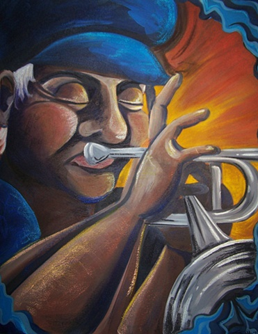 The Trumpeter in Blue