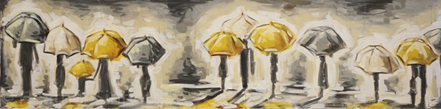 the umbrellas