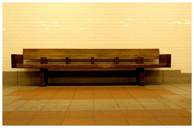 subway  bench new york city