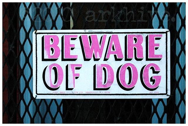 'beware of dog'