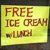 'free ice cream'