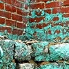 'aqua + brick wall'