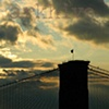 'brooklyn bridge + sunset'