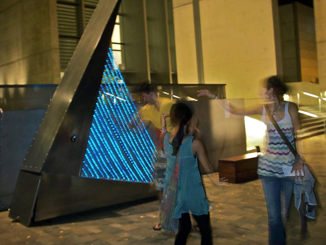 interactive artwork, light, sound