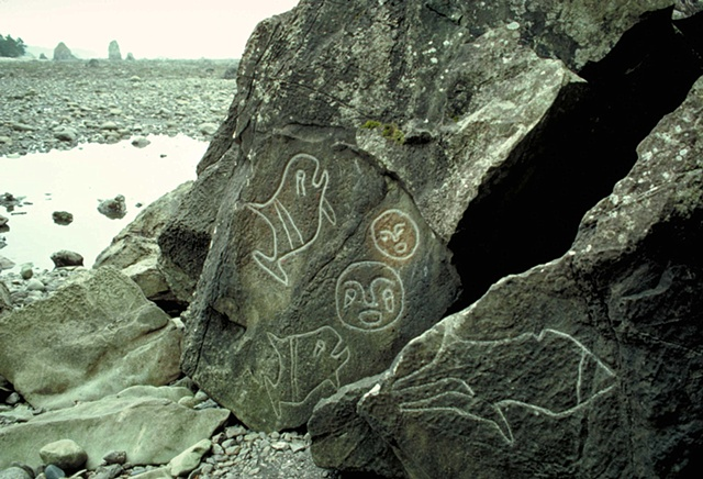 petroglyphs, Washington coastline, Native American art, Olympic Peninsula