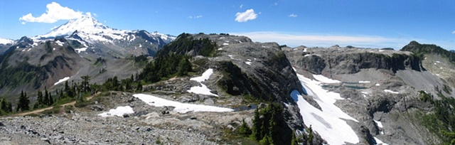 North Cascades mountains, glaciers, hiking, Mt. Baker, Washington