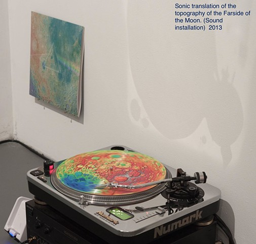 Joe Cruz, BOLT EXPO, Joseph G Cruz, sound art, farside of the moon, picture disk, Chicago Artist Coalition