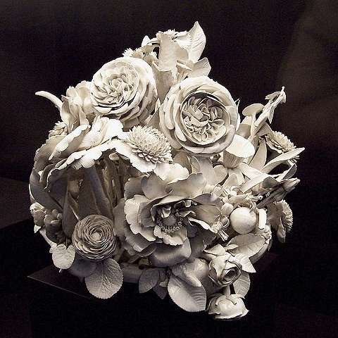 porcelain flower center piece