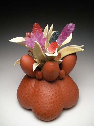 ceramics, cast glass, hanbuilt, botanical, sculpture, organic