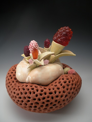 ceramic, glass, otterson, botanical, organic, sculpture
