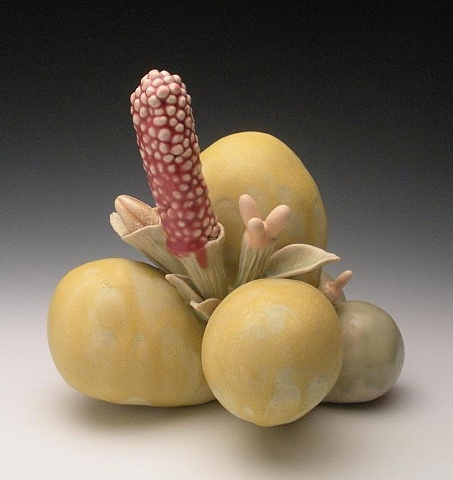 sculpture organic botanical florida california art work ceramic clay