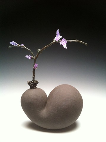 ceramics, cast glass, hanbuilt, botanical, sculpture, bronze casting, organic