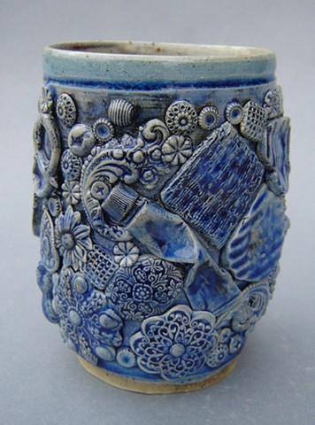 Blue Cup with Rooster and Ointment (other view)