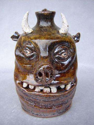 Devil Pig Whiskey Face Jug #4