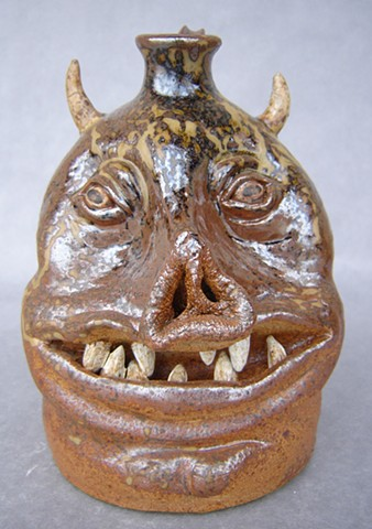 Devil Pig Whiskey Face Jug #5