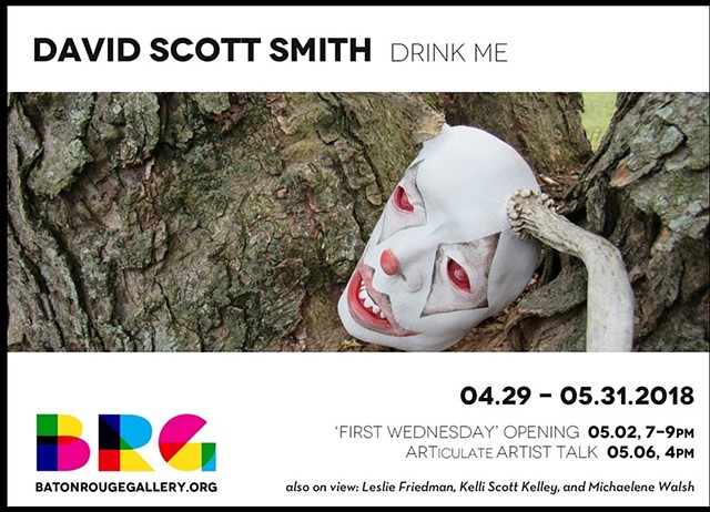 "Postcard from the exhibition ""Drink Me"" Baton Rouge Gallery"