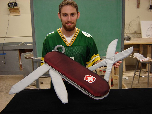 """Swiss Army Knife"" 3-D Design, SLU Converting a Mechanical Object into a Soft Sculpture"