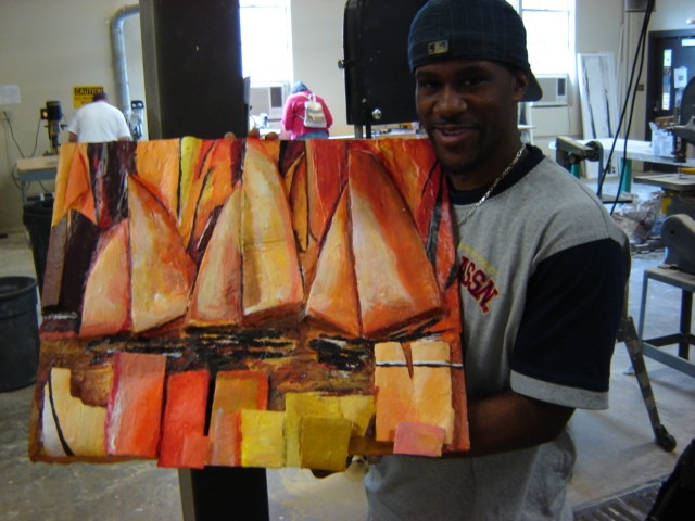 3-D Design, Southeastern Louisiana University Convert Cubist Painting into 3-D Relief