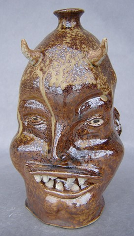 Devil Hillbilly Face Jug