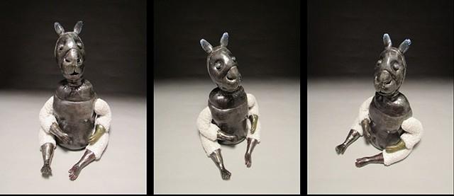 Dark Rabbit Doll