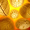 Porcelain & Beeswax with Hardwood Frame (illuminated, detail)