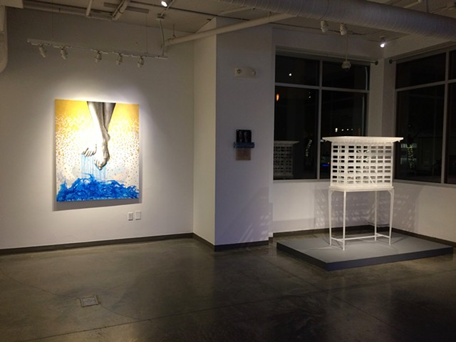 Installation at Blue Line Gallery- Roseville, CA.