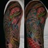 Meghan's 2 sitting Dragon and Mary sleeve. She's the champ.