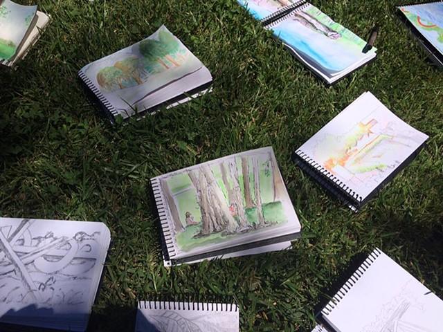 NCMA Teacher Workshops: Art and Environment (Urban Sketching with artist/educator Scott Renk)