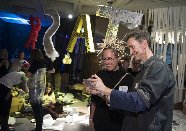 NCMA Task Party with artist Oliver Herring
