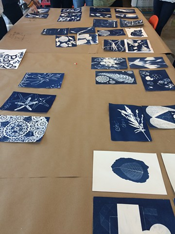 NCMA Teacher Workshops: Art and Advocacy (Cyanotypes with artist/educator Leah Sobsey)