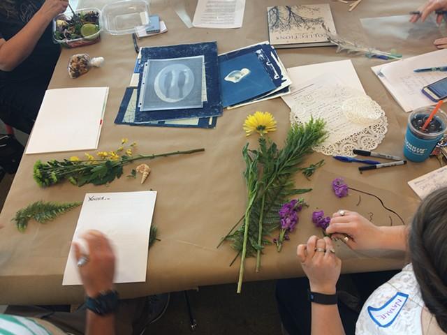 NCMA Teacher Workshops: Art and Advocacy (Cyanotypes with artist/educator Leah Sobsey)