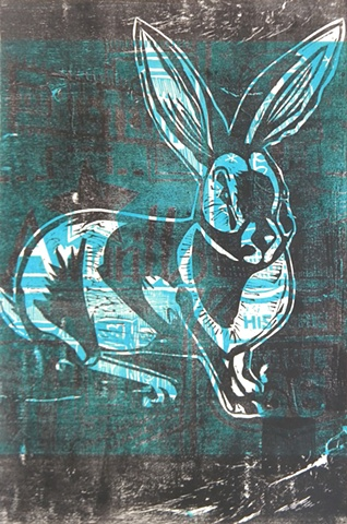 Woodcut Route 66, Rabbit