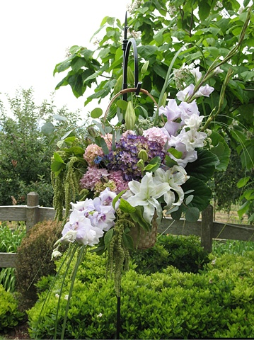 Hanging Basket Alter Arrangement