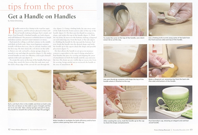 Pottery Making Illustrated, Get a Handle on Handles, Annie Chrietzberg
