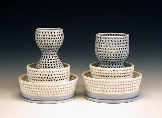 Perforated Vases