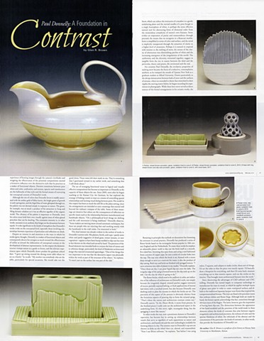 Ceramics Monthly, A Foundation in Contrast By Glenn R Brown February 2014