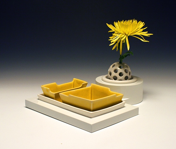 Vase with Tray
